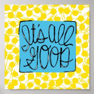 すべてのよい の青及び黄色の点 ポスター