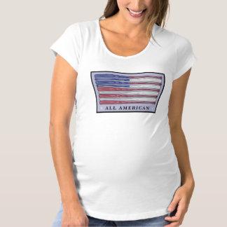 すべてのアメリカの野球用バットの旗の母性のティー マタニティTシャツ