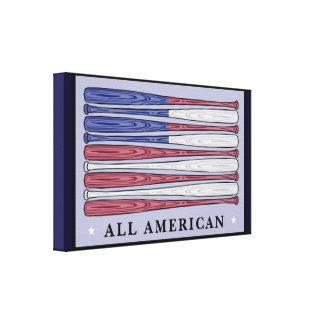 すべてのアメリカの野球用バットは包まれたなキャンバスの芸術に印を付けます キャンバスプリント