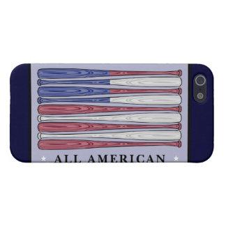 すべてのアメリカの野球用バットはiphone 5の箱に印を付けます iPhone 5 カバー