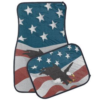 すべてのアメリカ米国の旗およびワシ カーマット