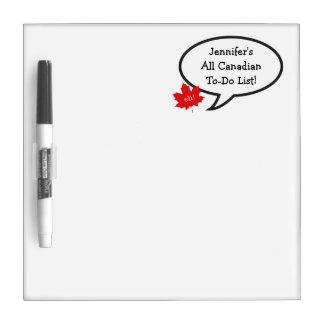 すべてのカナダの女性の大騒ぎのリストかえでの葉 ホワイトボード