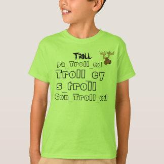 すべてのトロールの単語およびiTrollArmyロゴ Tシャツ