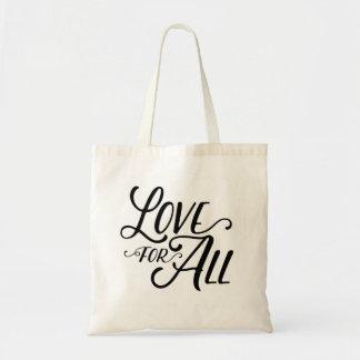 すべてのトート(黒い文字)のための愛 トートバッグ