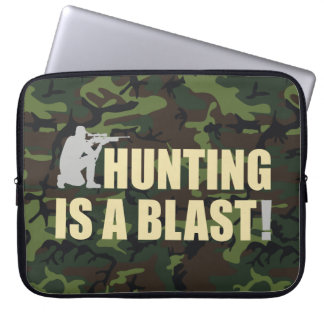 すべてのハンターのためのおもしろい句: 狩りは送風です、 ラップトップスリーブ