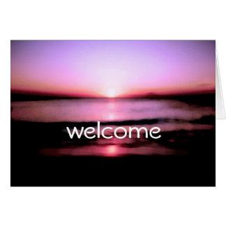 すべてのビーチの日の出の結婚式歓迎して下さい カード