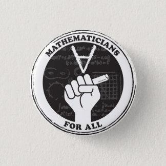 すべてのボタンのための数学者 缶バッジ