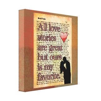すべてのラブストーリー -- キャンバスの芸術のプリント キャンバスプリント