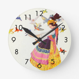 すべての世界の鳥 ラウンド壁時計