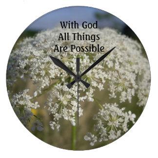 すべての事は可能な柱時計です ラージ壁時計