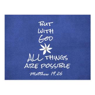 すべての事は可能な聖書の詩です ポストカード