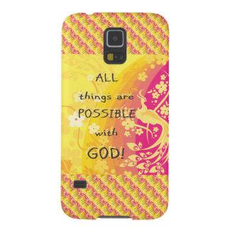すべての事は神と可能です GALAXY S5 ケース
