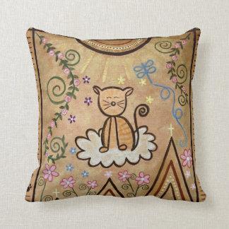 すべての創造物2の天国-子猫猫は芸術の枕をからかいます クッション