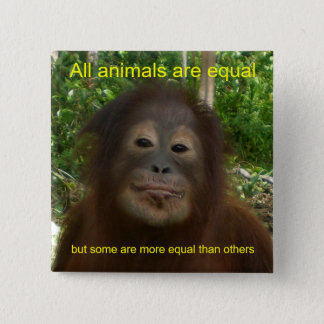 すべての動物は等しいです 5.1CM 正方形バッジ
