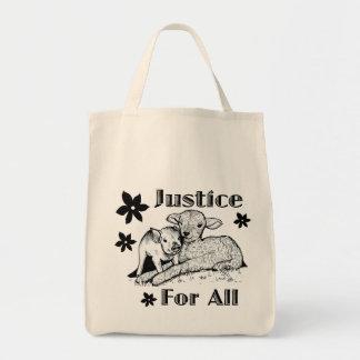 すべての動物権の食料雑貨のトートバックのための正義 トートバッグ