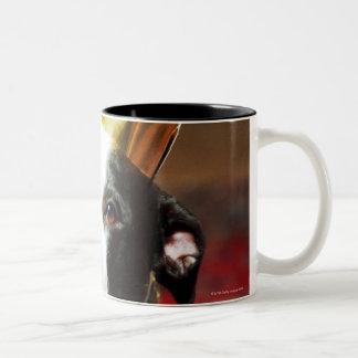 すべての国内犬のラテン系の名前はイヌ属です ツートーンマグカップ