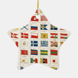 すべての国家の旗 セラミックオーナメント