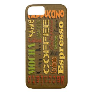 すべての場合様式のためのバーラップのコーヒー名前 iPhone 8/7ケース