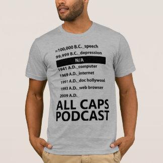 すべての帽子のポッドキャストの歴史のワイシャツ Tシャツ