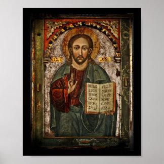 すべての強力なキリスト- Chrystus Pantokrator ポスター