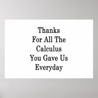 すべての微積分をありがとう毎日私達を与えました。 ポスター