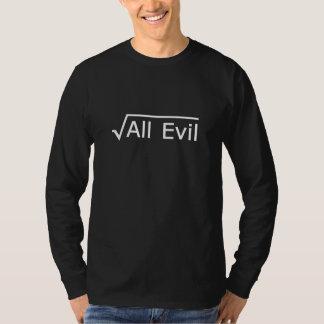 すべての悪の根-おもしろいな数学の表現 Tシャツ