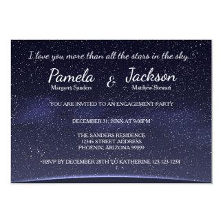 すべての星婚約のパーティの招待より多く カード