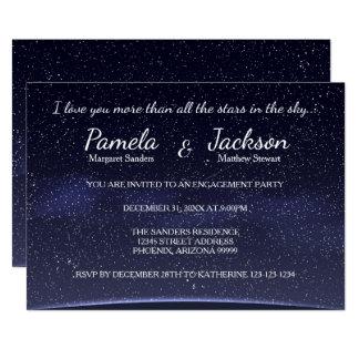 すべての星婚約のパーティーの招待より多く 12.7 X 17.8 インビテーションカード