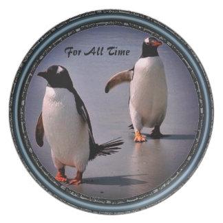 すべての時間のペンギンのコレクションプレートのため プレート