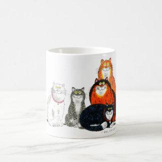 """""""すべての猫""""のマグ コーヒーマグカップ"""