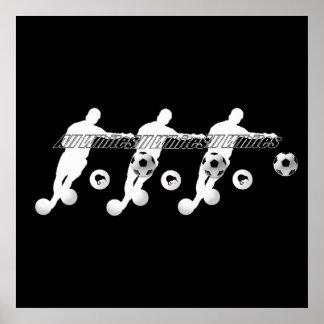 すべての白のフットボール選手 ポスター