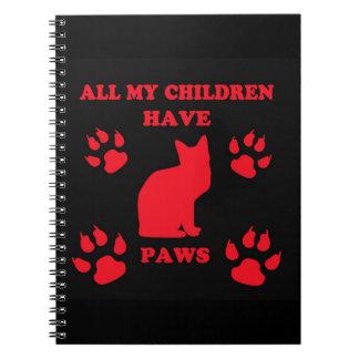 すべての私の子供は足のノートを持っています ノートブック