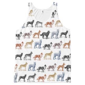 すべての種類の犬 オールオーバープリントタンクトップ