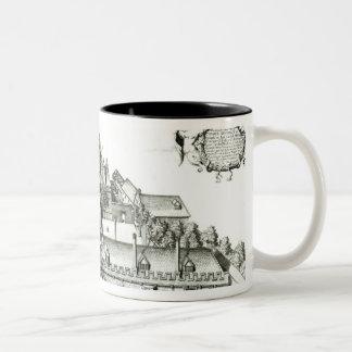 すべての精神大学、オックスフォード大学1675年 ツートーンマグカップ