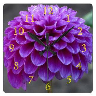 すべての紫色の花 スクエア壁時計
