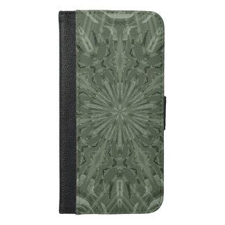 すべての緑のファンキーなパターン iPhone 6/6S PLUS ウォレットケース