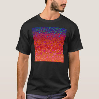 すべての色のTシャツのハート Tシャツ