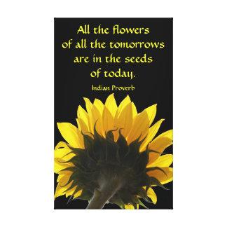 すべての花のヒマワリのキャンバス キャンバスプリント