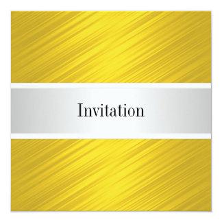 すべての行事のエレガントな黄色のストライプ カード