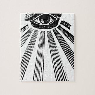 すべての見る目の今Illuminatiの新世界秩序 ジグソーパズル