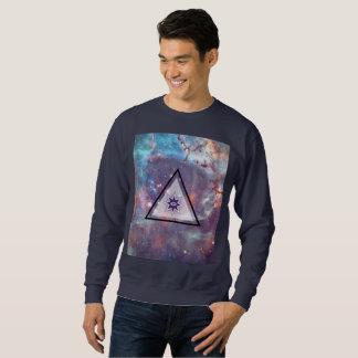 すべての見る目の幾何学的な銀河系の芸術 スウェットシャツ