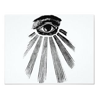 すべての見る目の石大工 カード