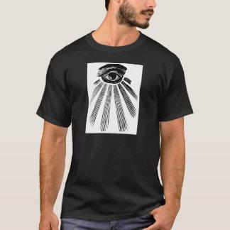 すべての見る目の石大工 Tシャツ