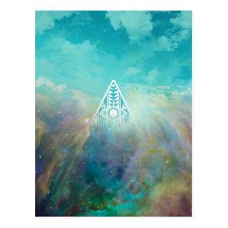 """""""すべての見る目""""の三角形のオリオンの素晴らしい星雲 ポストカード"""