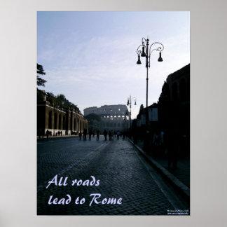すべての道はローマに導きます ポスター