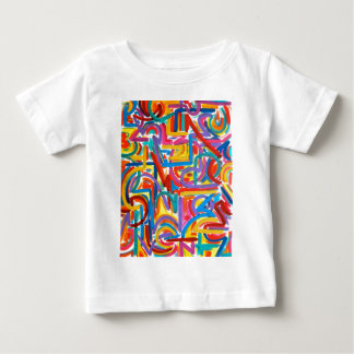 すべての道は抽象美術-手塗りそこに行きます ベビーTシャツ