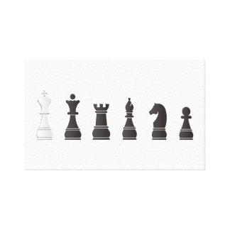 すべての黒い1つの白、駒 キャンバスプリント