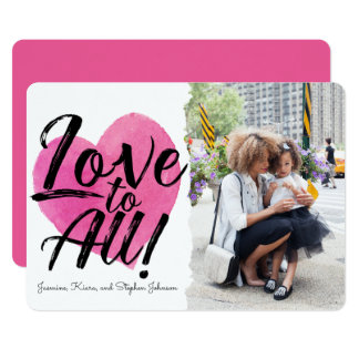 すべての の家族写真のバレンタインへの愛 12.7 X 17.8 インビテーションカード