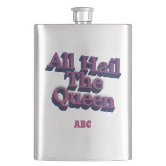 すべてはあなたのイニシャルを持つ女王3Dを呼びます フラスク