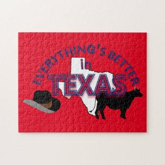 すべてはテキサス州のパズルでよりよいです ジグソーパズル